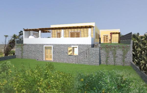 Progetto per la realizzazione di una volla unifamiliare in localita' Pianoconte di Lipari